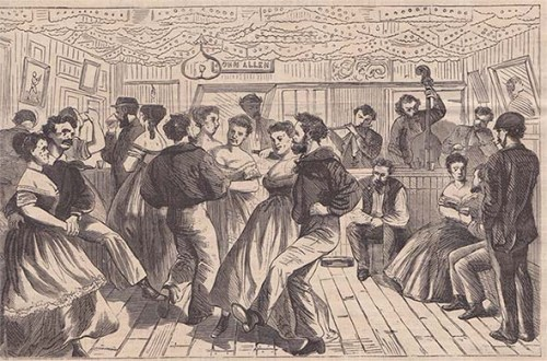 Wickedest Man in New York, John Allen. 304 Water Street, Brooklyn Bridge, South Street Seaport, Corlear's Hook, 4th Ward, Westley Allen, Wess Allen, The. Allen, Theodore Allen, Gangs of New York, Herbert Asbury, Gangs of New York, Saloon