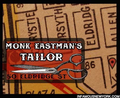 Monk Eastman, William Delaney, Gangs of New York, Crime, Monk Eastman's Murder, Owney Madden, Paul Kelly, Paolo Vaccarelli, 50 Eldridge Street, Witty Brothers.