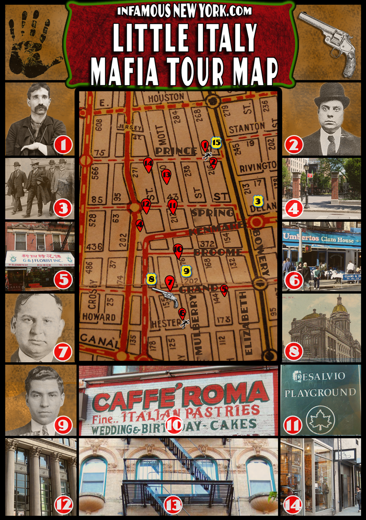 Little Italy Mafia Walking Tour Map | Infamous New York