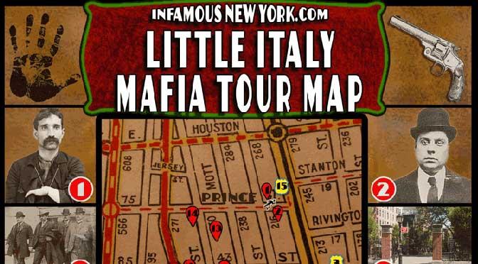 Little Italy Mafia Walking Tour Map Infamous New York