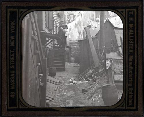 The slums of Mulberry Bend in the heart of the Five Points. Image Via the Museum of the City of New York.