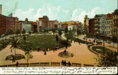 The city demolished Mulberry Bend in 1897 and created Mulberry Bend Park which was later renamed Columbus Park.