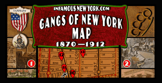 Gangs of New York Walking Tour Map | Infamous New York on pomona ny map, los angeles gang area map, oakland gangs territory map, california gang map, portland gang map, new york street gangs, compton gang map, compton los angeles map, south los angeles gang map, l.a. gang map, la street gangs map, gangs of new york map, pomona gang map, nyc gang map,