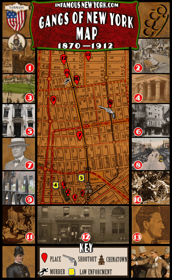 Gangs of New York Walking Tour Map  Infamous New York
